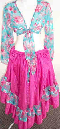 <b>Ruffled Gypsy Skirt & Bolero</b>